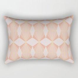 geometry art decó in pink and mauve Rectangular Pillow