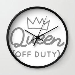 Queen (Off Duty) Wall Clock