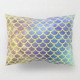 Rainbow Mermaid Scales Pattern Pillow Sham