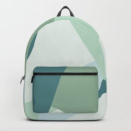 Modern abstract beach color block geometric stripes blue green pattern Backpack