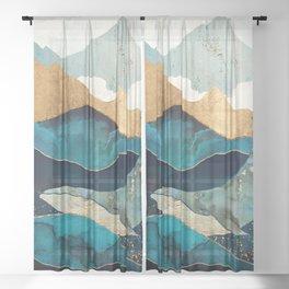 Blue Whale Sheer Curtain
