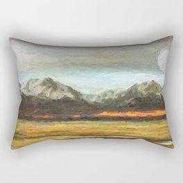 Abstract Andean Landscape Rectangular Pillow