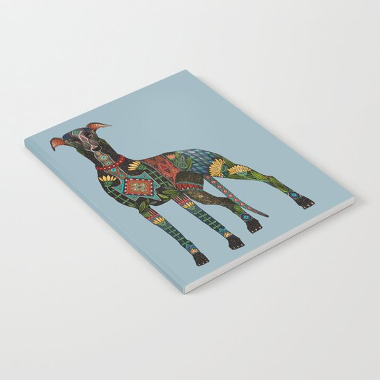 greyhound azure blue Notebook