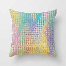 Colorful diamond hole punch Throw Pillow