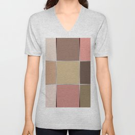Squares , patchwork 5 Unisex V-Neck