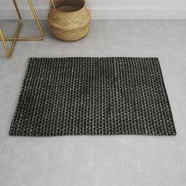Black Burlap texture  Rug