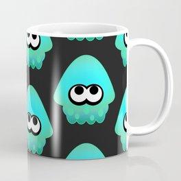 Splatoon Squid Pattern Cyan Coffee Mug
