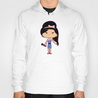 amy hamilton Hoodies featuring Amy by Sombras Blancas Art & Design