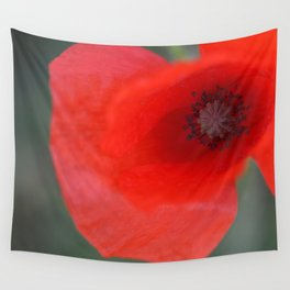 top poppy so red! Wall Tapestry
