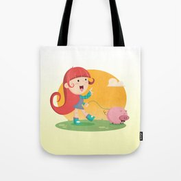 Lilly and Piggy Tote Bag