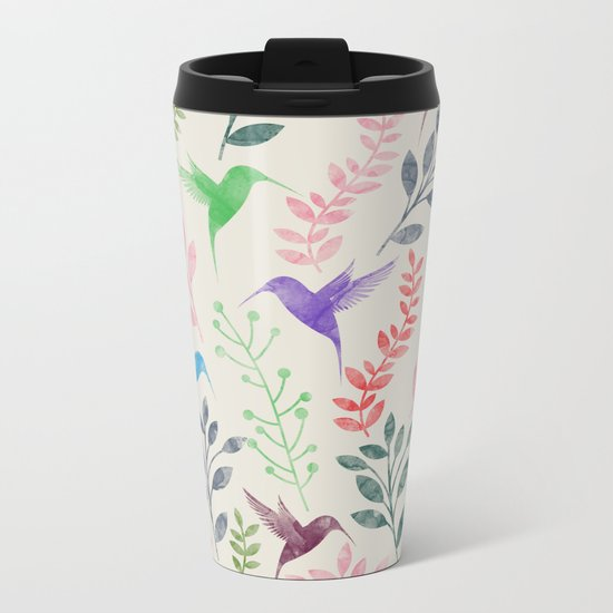 Floral & Birds II Metal Travel Mug