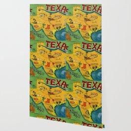 Postcard from Texas print Wallpaper