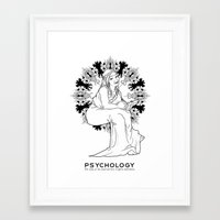 psychology Framed Art Prints featuring Psychology by Verdant Winter