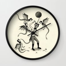 Wings and Talons Wall Clock