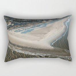 Frying Pan Shoals   South Beach & East Beach   Bald Head Island, NC Rectangular Pillow