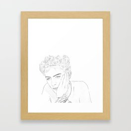 Timothee Chalamet - Elio from CMBYN Framed Art Print
