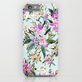 SWEPT AWAY Powder Blue Tropical Floral iPhone Case