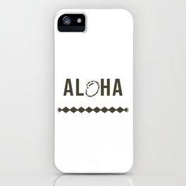 Fresh Hawaiian Style Tshirt Design Aloha iPhone Case