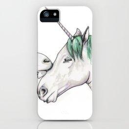 Unicorns in love III iPhone Case