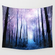 Fantasy Forest Path Wall Tapestry