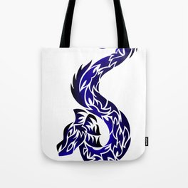 Blue Twisted Dragon Tote Bag