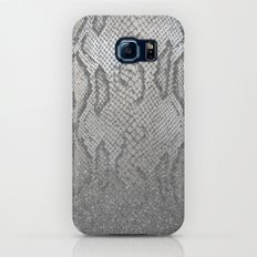 Shimmer (Silver Snake Glitter Abstract) Galaxy S7 Slim Case