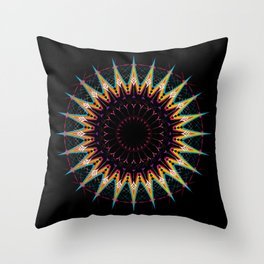 Futuristic Zen Mandala Throw Pillow