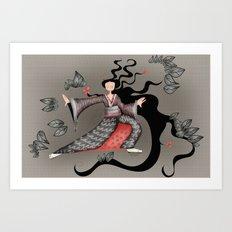 Tai chi-ing Art Print