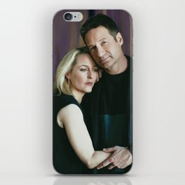 Gillian Anderson and David Duchovny oil color painting iPhone Skin
