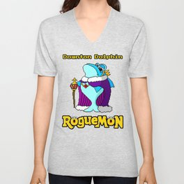 Downton Dolphin Unisex V-Neck
