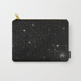 Universe Space Stars Planets Galaxy Black and White Carry-All Pouch