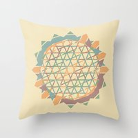 fractal Throw Pillows featuring Fractal by Zach Terrell