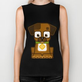 Super cute animals - Cute Brown Puppy Dog Biker Tank