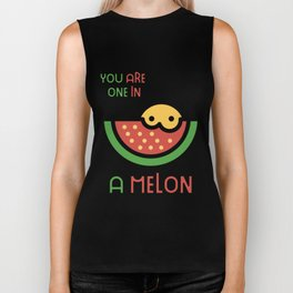 You Are One In A Melon Super Cute Melon Gift Idea Biker Tank