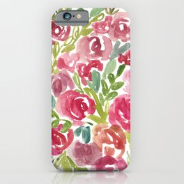 Maya's Garden Watercolor Painting iPhone Case