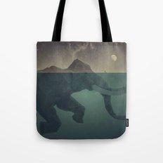 Elephant mountain Tote Bag