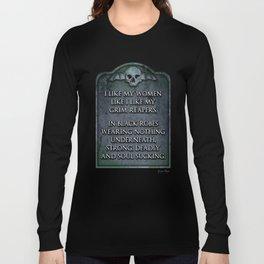 Grim Reaper Sexy Long Sleeve T-shirt
