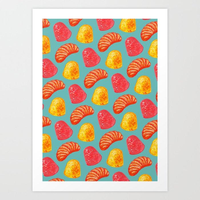 Candy Pattern Kunstdrucke