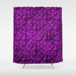 Vintage Floral Lace Leaf Dazzling Violet Shower Curtain