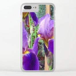 Purple Iris Clear iPhone Case