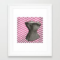 arsenal Framed Art Prints featuring Lady's Arsenal - The Corset by Ashley Anonymous