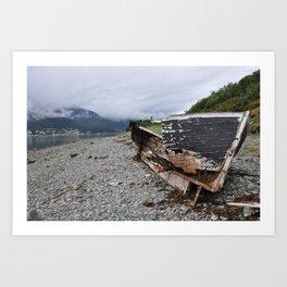 Old boat in Juneau, AK Art Print
