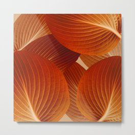 Leaves in Terracotta Color #decor #society6 #buyart Metal Print