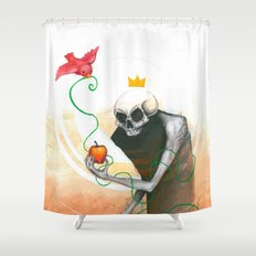 maybe this apple Shower Curtain