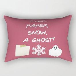 Paper, Snow, A Ghost! - Friends TV Show Rectangular Pillow