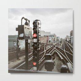 Brooklyn Rails Metal Print