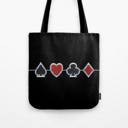 Spades Hearts Clubs Diamonds Tote Bag