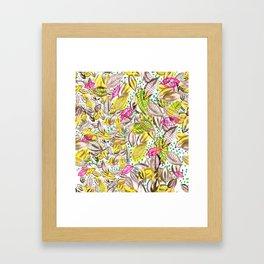 hojas de otoño Framed Art Print