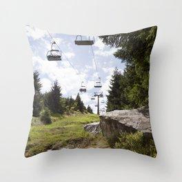 Ještěd Mountain Throw Pillow