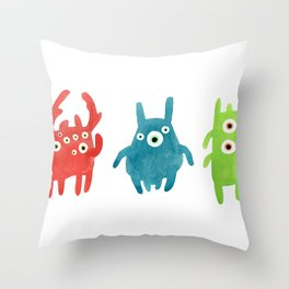 Litte creatures 1 Throw Pillow